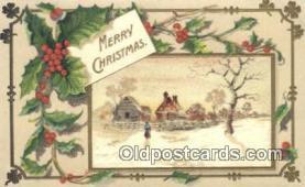 hol050322 - Christmas Postcard, Post Card Old Vintage Antique Carte, Postal Postal