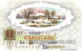 hol050324 - Christmas Postcard, Post Card Old Vintage Antique Carte, Postal Postal