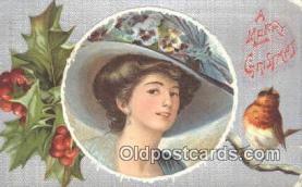 hol050325 - Christmas Postcard, Post Card Old Vintage Antique Carte, Postal Postal