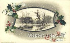 hol050326 - Christmas Postcard, Post Card Old Vintage Antique Carte, Postal Postal