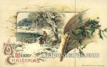 hol050329 - Christmas Postcard, Post Card Old Vintage Antique Carte, Postal Postal
