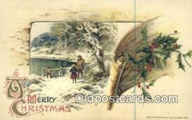 hol050329 - Christmas Postcard, Post Card Old Vintage Antique Carte, Postal Postal