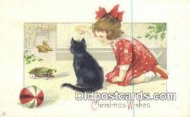 hol050331 - Christmas Postcard, Post Card Old Vintage Antique Carte, Postal Postal