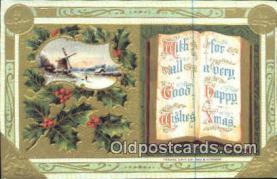 hol050333 - Christmas Postcard, Post Card Old Vintage Antique Carte, Postal Postal