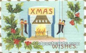 hol050334 - Christmas Postcard, Post Card Old Vintage Antique Carte, Postal Postal