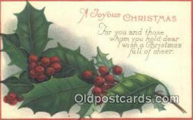 hol050338 - Christmas Postcard, Post Card Old Vintage Antique Carte, Postal Postal