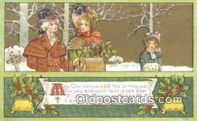 hol050342 - Christmas Postcard, Post Card Old Vintage Antique Carte, Postal Postal