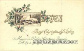 hol050345 - Christmas Postcard, Post Card Old Vintage Antique Carte, Postal Postal