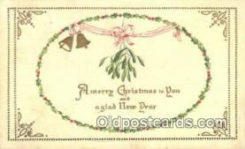 hol050352 - Christmas Postcard, Post Card Old Vintage Antique Carte, Postal Postal