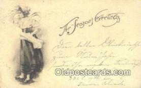 hol050361 - Christmas Postcard, Post Card Old Vintage Antique Carte, Postal Postal