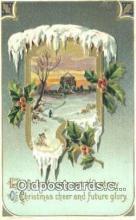 hol050367 - Christmas Postcard, Post Card Old Vintage Antique Carte, Postal Postal