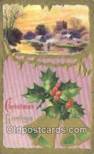 hol050368 - Christmas Postcard, Post Card Old Vintage Antique Carte, Postal Postal