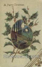hol050370 - Christmas Postcard, Post Card Old Vintage Antique Carte, Postal Postal
