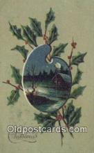 hol050374 - Christmas Postcard, Post Card Old Vintage Antique Carte, Postal Postal
