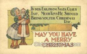 hol050391 - Christmas Postcard, Post Card Old Vintage Antique Carte, Postal Postal