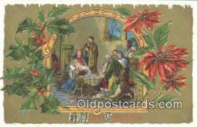 hol050392 - Christmas Postcard, Post Card Old Vintage Antique Carte, Postal Postal