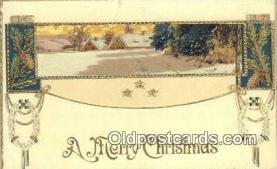 hol050395 - Christmas Postcard, Post Card Old Vintage Antique Carte, Postal Postal