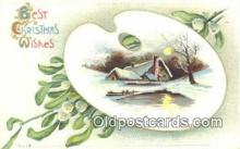 hol050396 - Christmas Postcard, Post Card Old Vintage Antique Carte, Postal Postal