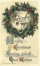 hol050402 - Christmas Postcard, Post Card Old Vintage Antique Carte, Postal Postal