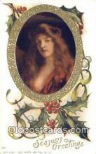hol050403 - Christmas Postcard, Post Card Old Vintage Antique Carte, Postal Postal
