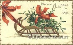 hol050423 - Christmas Postcard, Post Card Old Vintage Antique Carte, Postal Postal