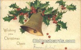 hol050426 - Christmas Postcard, Post Card Old Vintage Antique Carte, Postal Postal