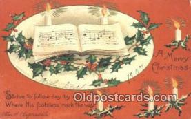 hol050427 - Christmas Postcard, Post Card Old Vintage Antique Carte, Postal Postal