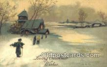 hol050432 - Christmas Postcard, Post Card Old Vintage Antique Carte, Postal Postal