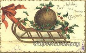 hol050434 - Christmas Postcard, Post Card Old Vintage Antique Carte, Postal Postal