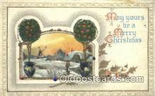hol050453 - Christmas Postcard, Post Card Old Vintage Antique Carte, Postal Postal