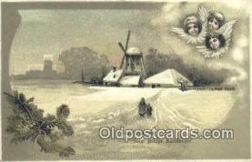 hol050455 - Christmas Postcard, Post Card Old Vintage Antique Carte, Postal Postal