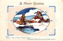 hol051001 - Christmas Postcard Old Vintage Antique Post Card
