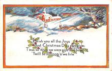 hol051007 - Christmas Postcard Old Vintage Antique Post Card