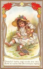 hol051019 - Christmas Postcard Old Vintage Antique Post Card