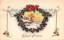 hol051031 - Christmas Postcard Old Vintage Antique Post Card