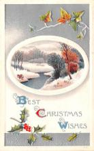 hol051033 - Christmas Postcard Old Vintage Antique Post Card