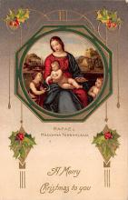 hol051037 - Christmas Postcard Old Vintage Antique Post Card