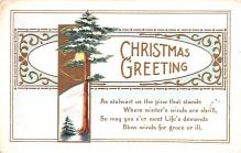 hol051041 - Christmas Postcard Old Vintage Antique Post Card