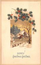 hol051043 - Christmas Postcard Old Vintage Antique Post Card