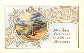 hol051047 - Christmas Postcard Old Vintage Antique Post Card