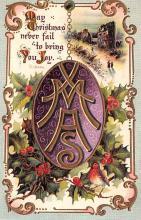 hol051049 - Christmas Postcard Old Vintage Antique Post Card