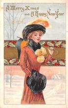 hol051051 - Christmas Postcard Old Vintage Antique Post Card