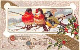 hol051057 - Christmas Postcard Old Vintage Antique Post Card