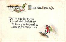hol051061 - Christmas Postcard Old Vintage Antique Post Card