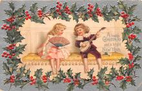 hol051071 - Christmas Postcard Old Vintage Antique Post Card
