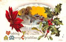 hol051075 - Christmas Postcard Old Vintage Antique Post Card