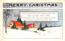 hol051091 - Christmas Postcard Old Vintage Antique Post Card