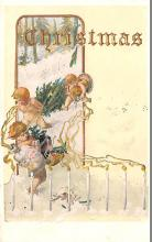 hol051093 - Christmas Postcard Old Vintage Antique Post Card
