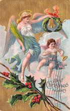 hol051101 - Christmas Postcard Old Vintage Antique Post Card