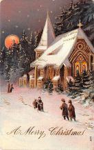 hol051103 - Christmas Postcard Old Vintage Antique Post Card